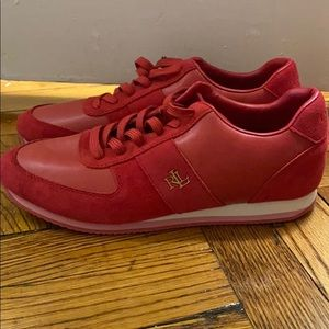 NWT Polo Ralph Lauren red sneakers